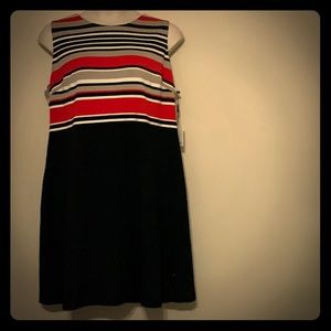 Calvin Klein Striped Shift Dress 20